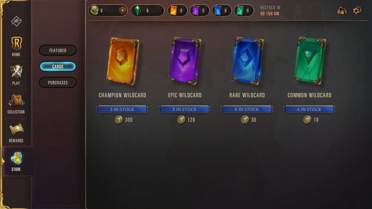 Wildcards let you grab any card of the same rarity. © Riot Games