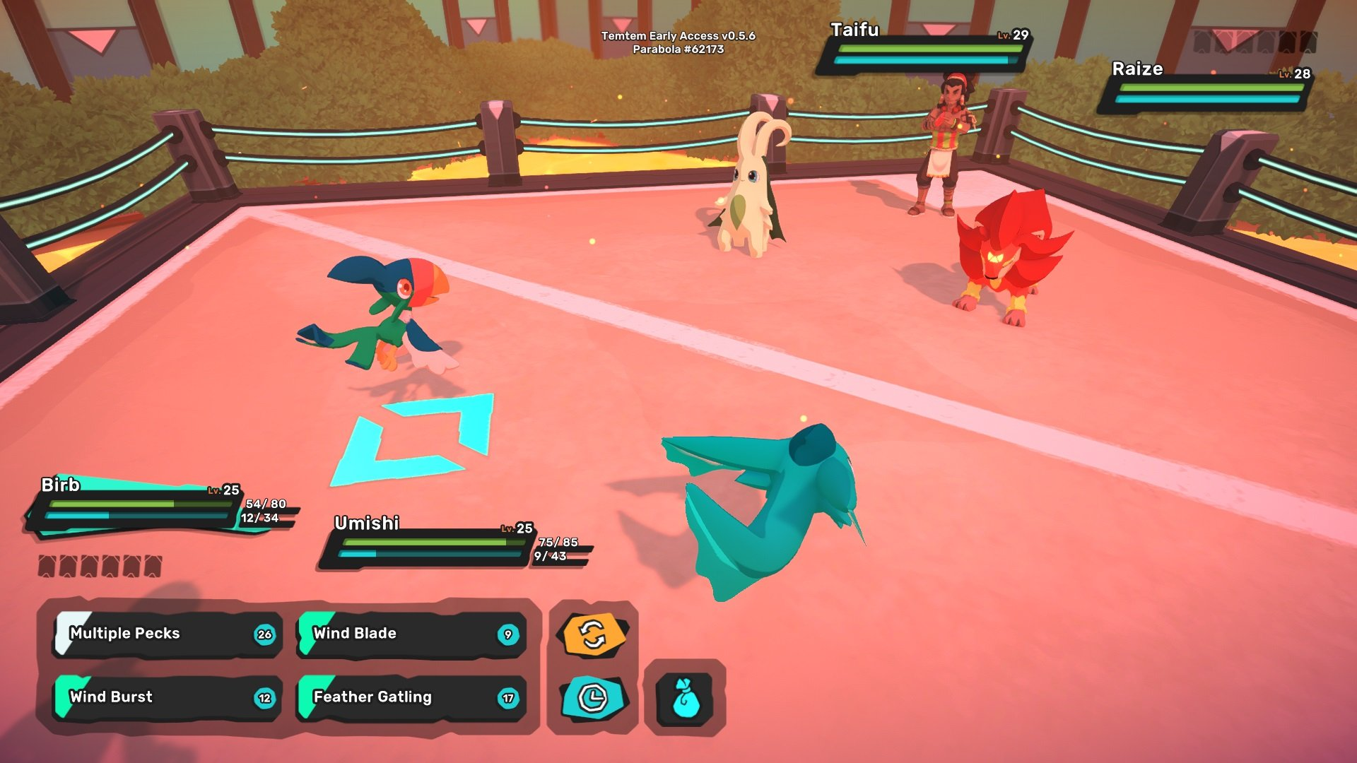Rawiri has a powerful Raize. The best way to beat Raize in Temtem is with a Water Type.