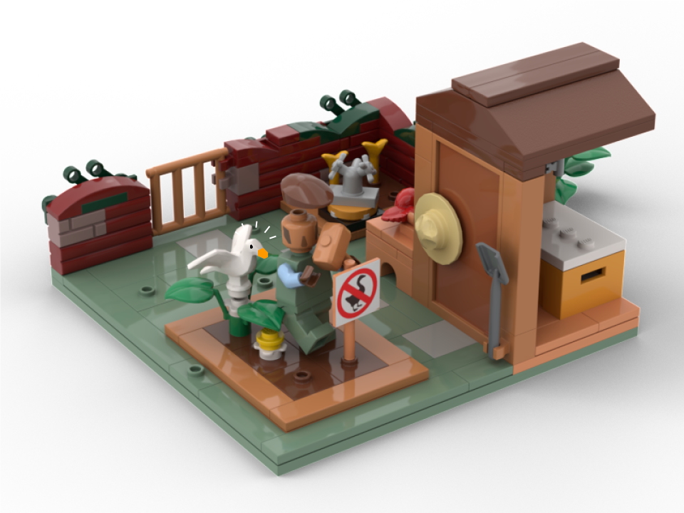 What a horrible plastic goose. © Lego Ideas / A Fellow Player