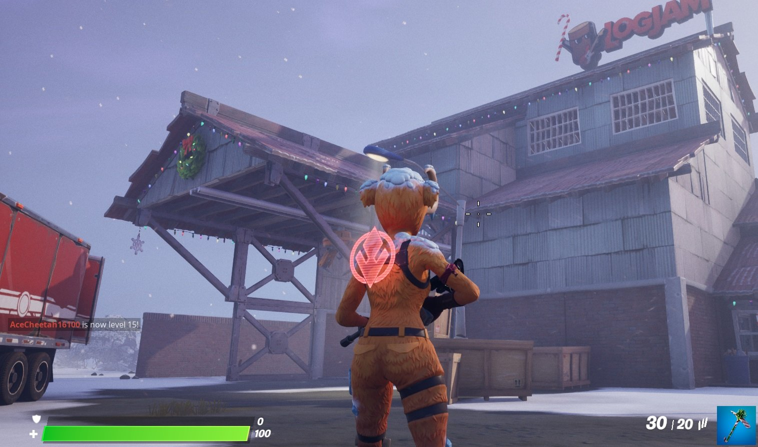 When you approach The Workshop, your challenge progress should update automatically in Fortnite.