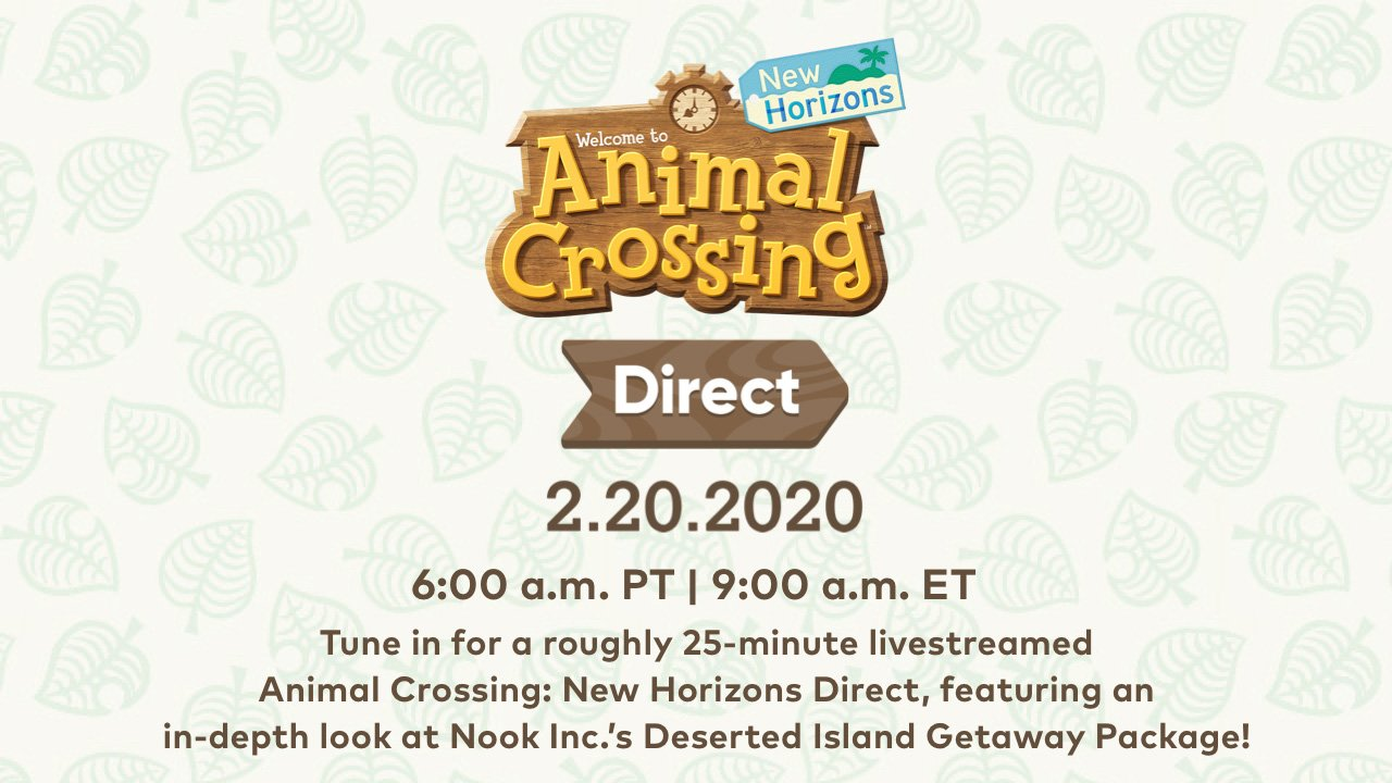 Animal Crossing new horizons nintendo direct start time where to watch