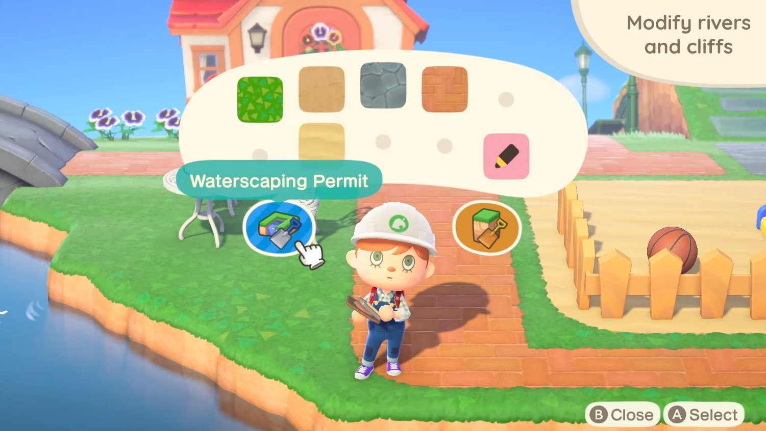 How to change rivers and cliffs in Animal Crossing: New Horizons