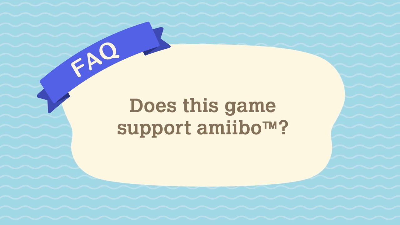 Does Animal Crossing: New Horizons have Amiibo support