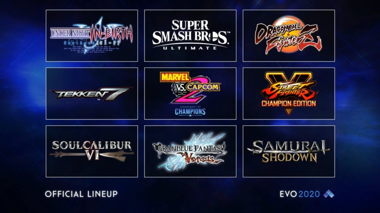 EVO 2020 Games line up all games at EVO