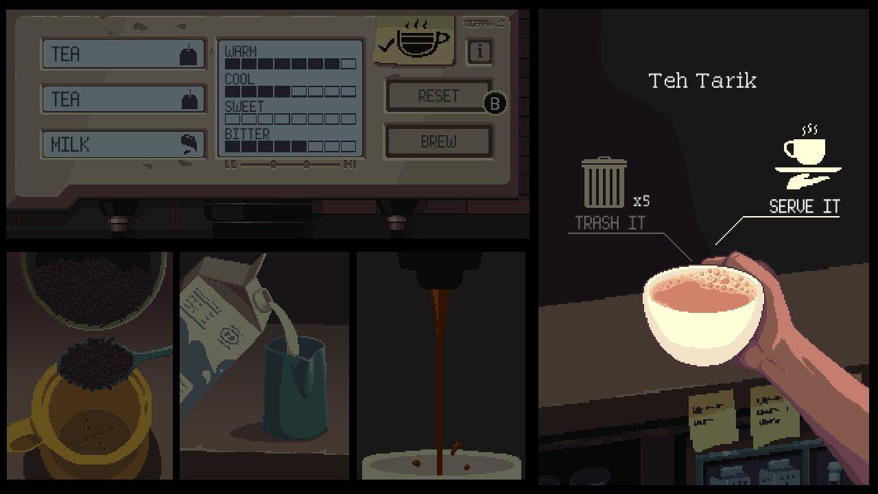 How to make Teh Tarik in Coffee Talk
