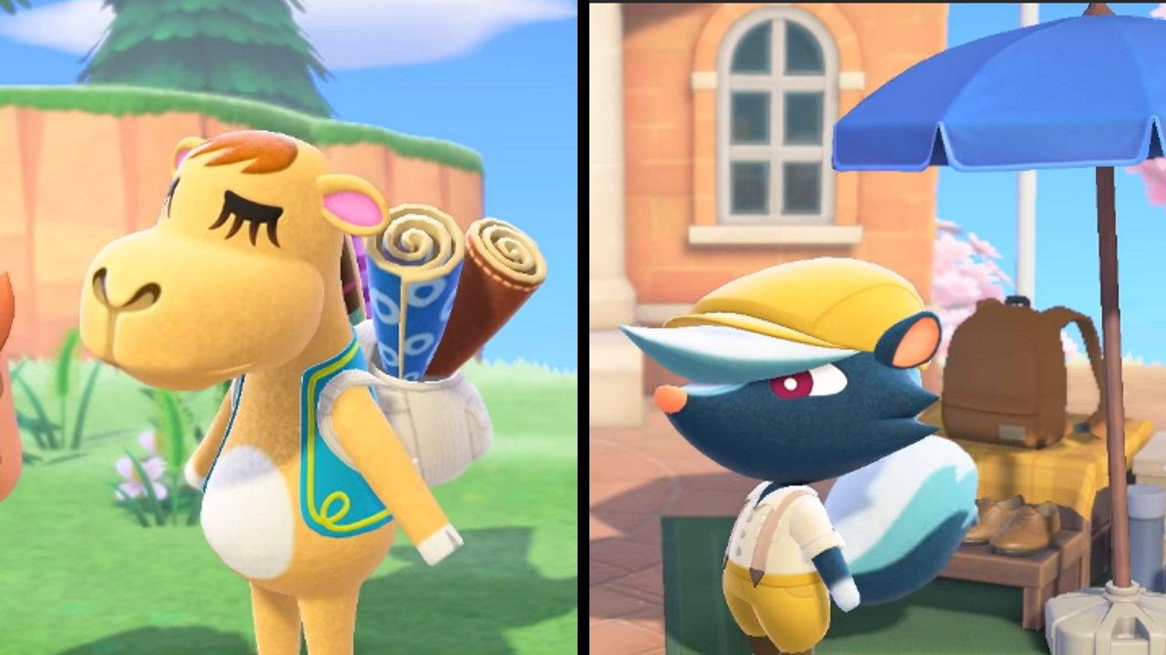 Animal Crossing New Horizons Saharah and Kicks