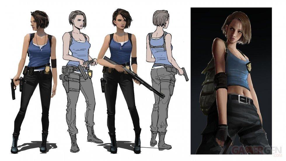 Resident Evil 3 leak concept art jill valentine