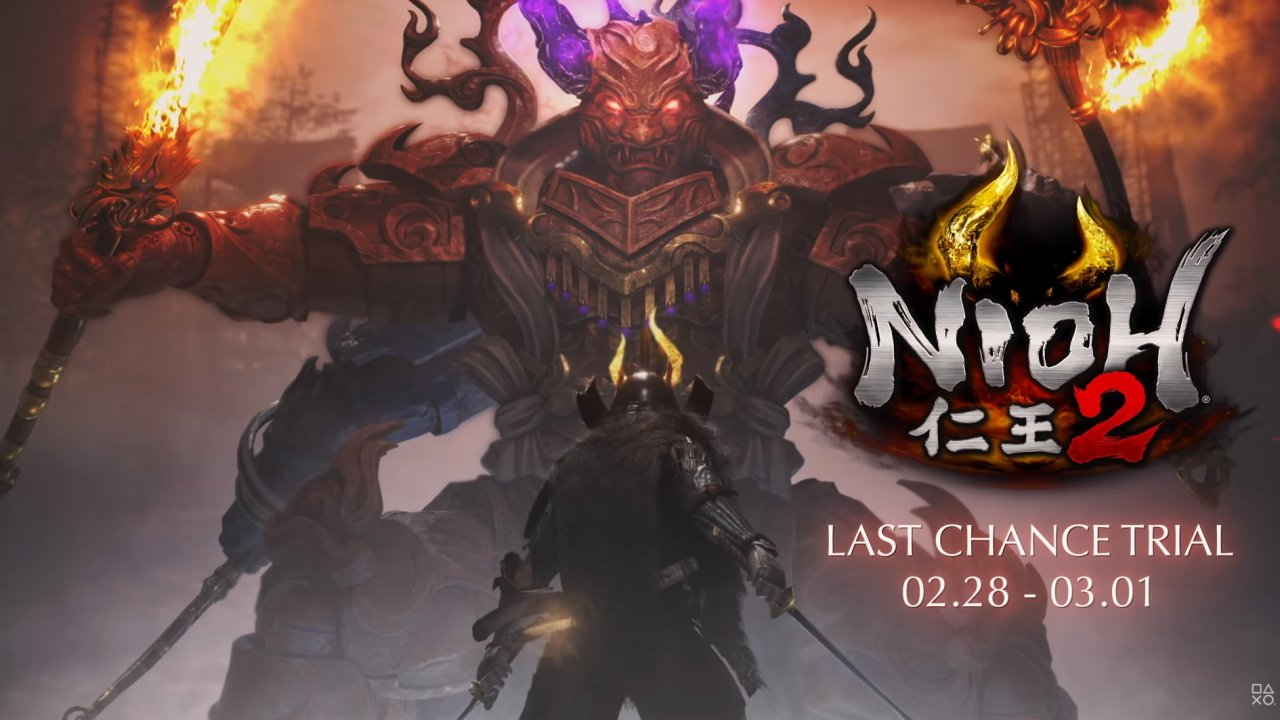 Nioh 2 Last Chance trial PS4 now available