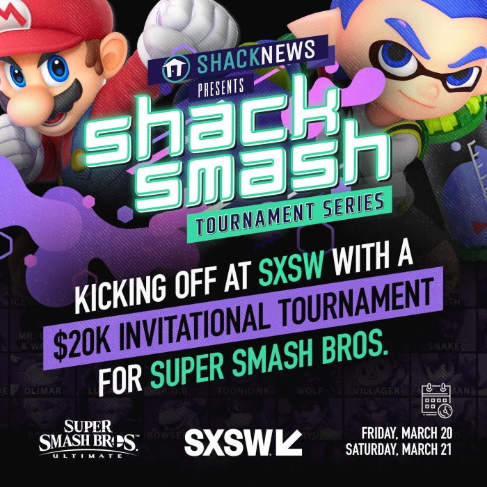 Shacknews 20k Smash Ultimate Invitational tournament