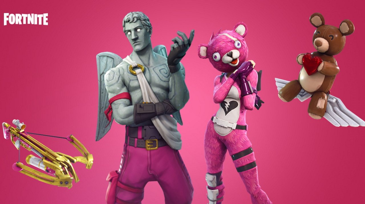 Bonus points in you dress up in Fortnite's terrifying Valentine's Day skins.