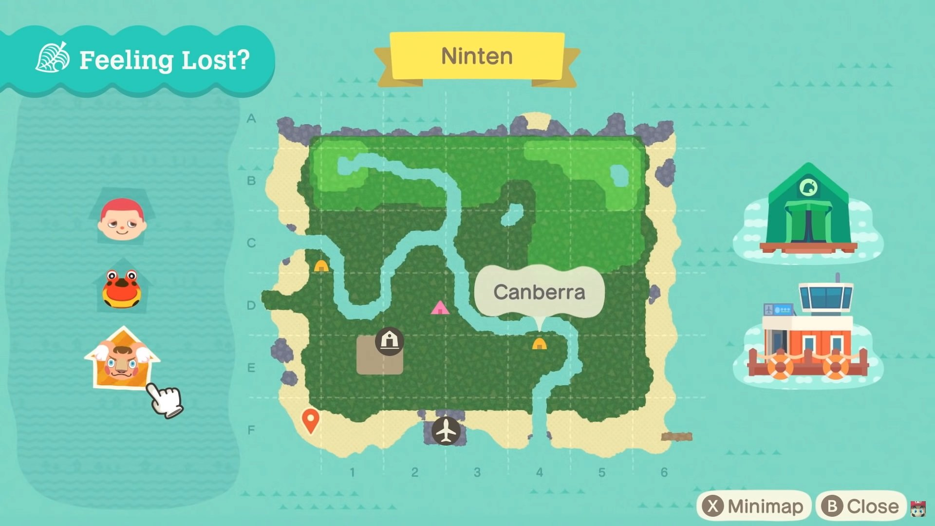 You can also view your Map to orient yourself if you get lost in Animal Crossing: New Horizons.