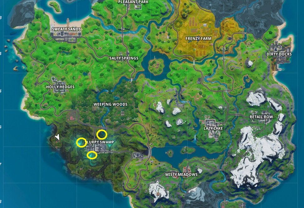 No Fishing sign locations in Fortnite