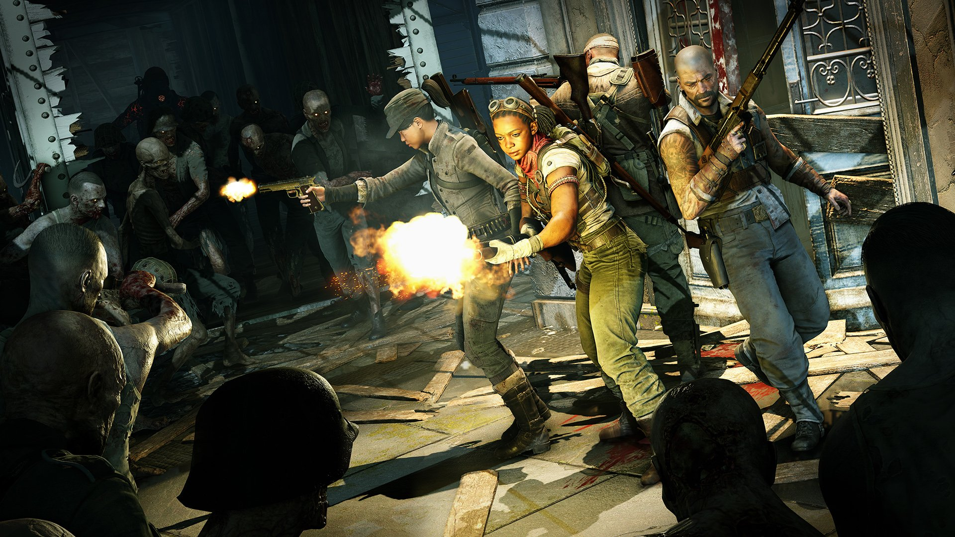 You have 4 characters to choose from in Zombie Army 4: Dead War including Boris, Shola, Jun, and Karl.