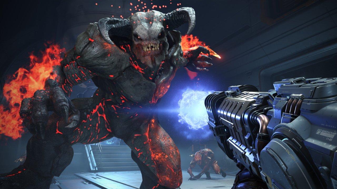 Doom Eternal Switch release date - an image of a big demon