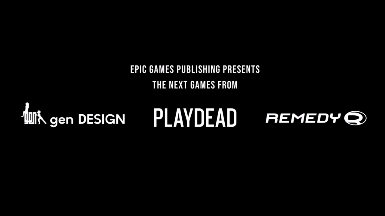 Epic games publishing revealed remedy playdead gen design