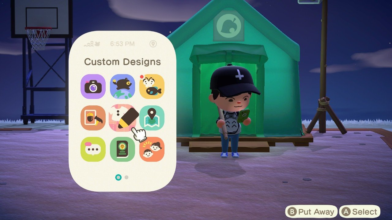 Customize your NookPhone case in Animal Crossing: New Horizons