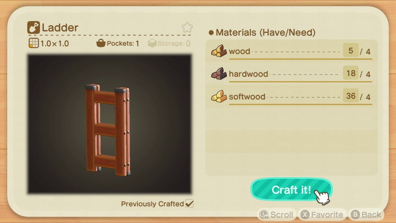 How to get a ladder in Animal Crossing: New Horizons