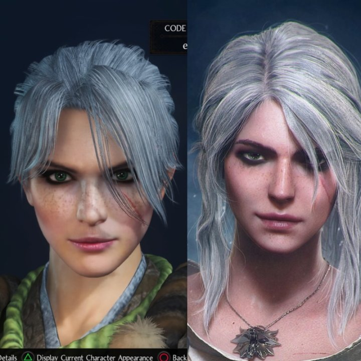 Nioh 2 character codes ciri the witcher 3