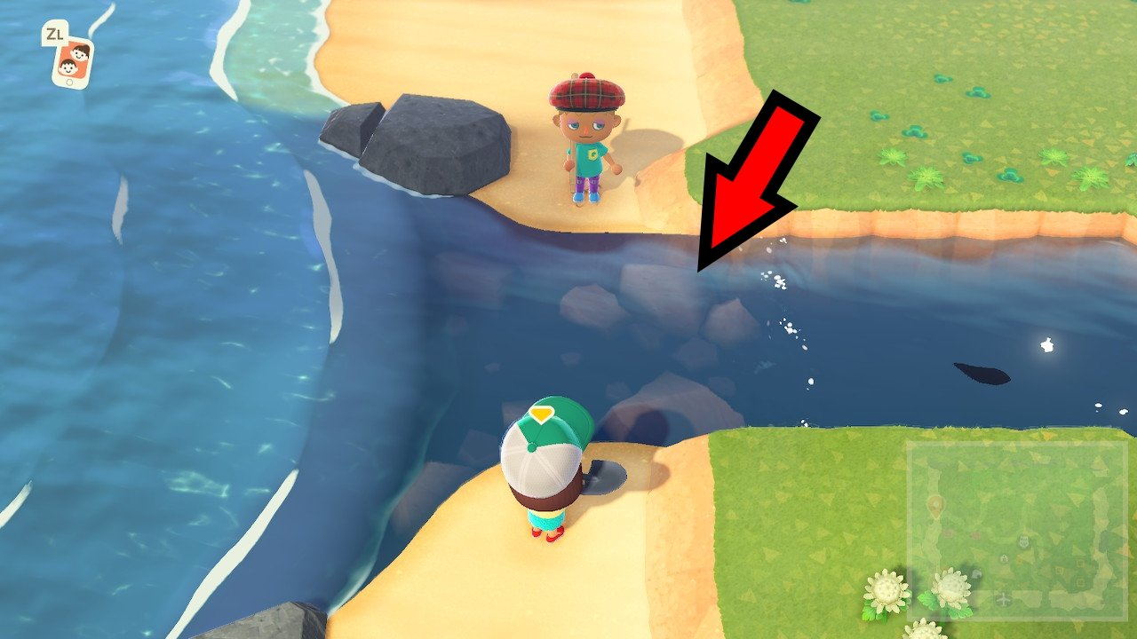 River Mouth locations animal crossing new horizons fishing guide