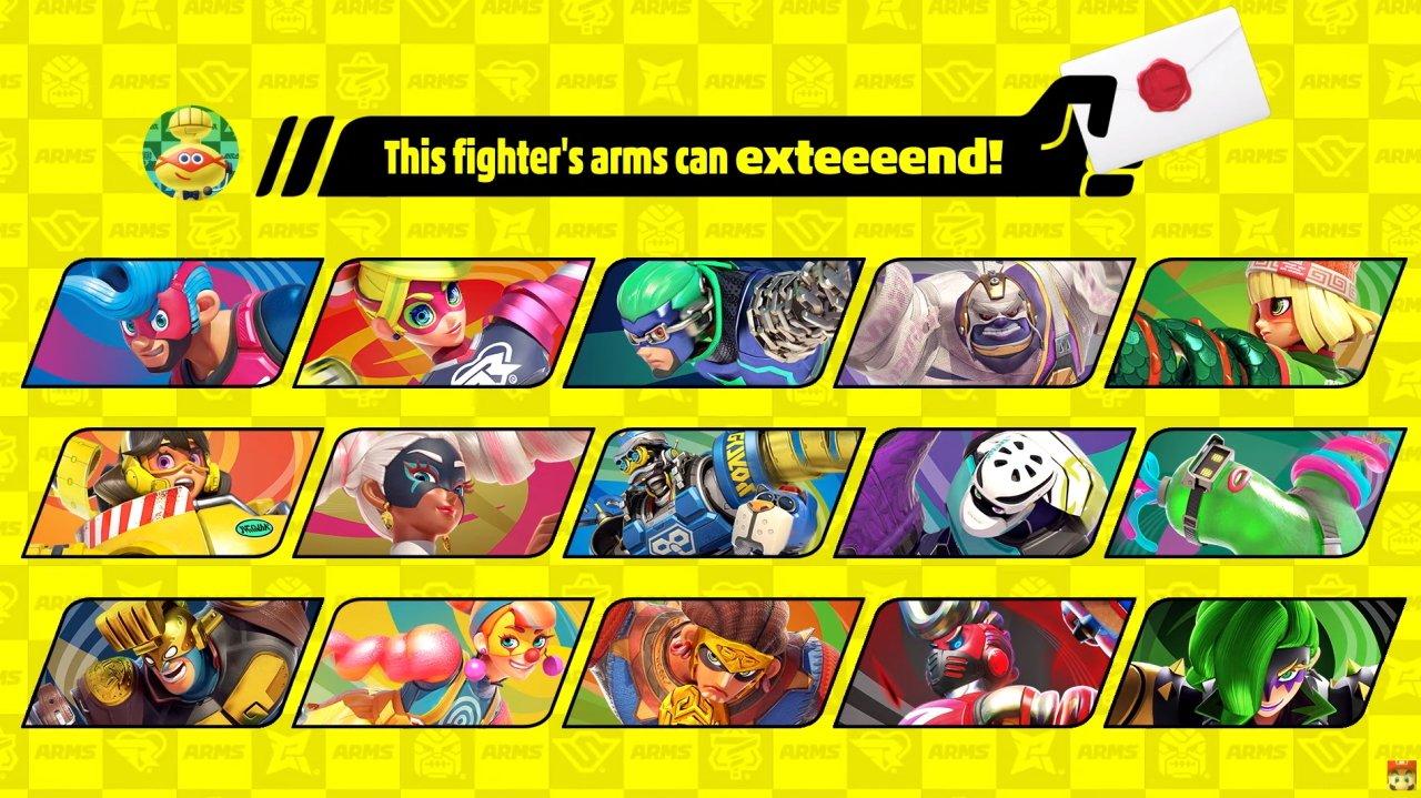 smash ultimate arms character dlc