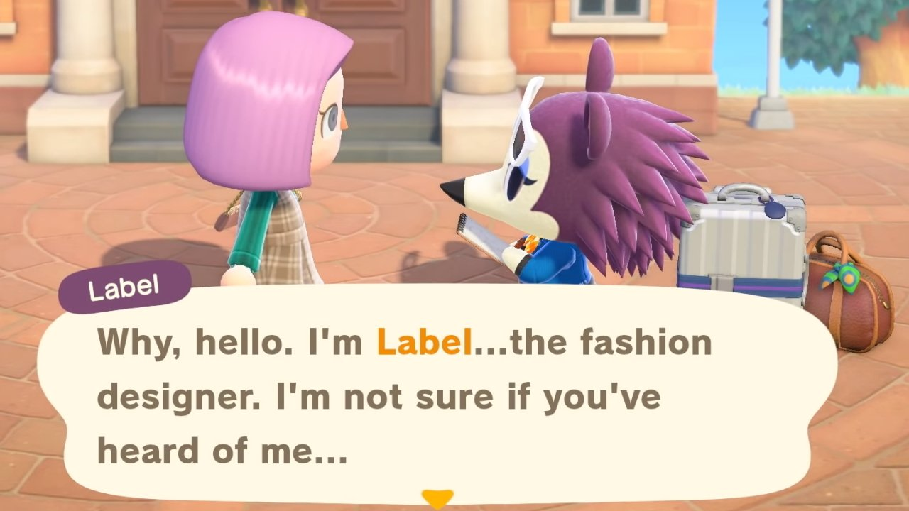 What time does Label arrive leave animal crossing new horizons