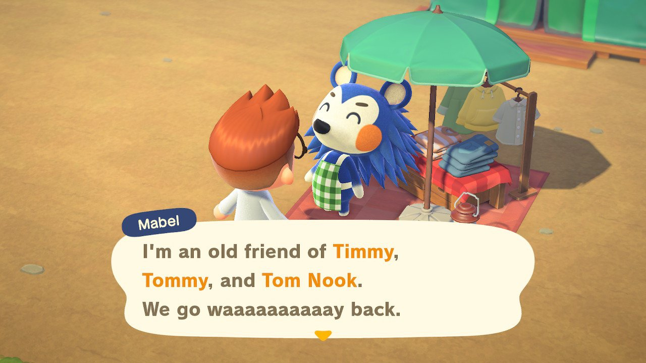 What time does Mabel arrive leave animal crossing new horizons