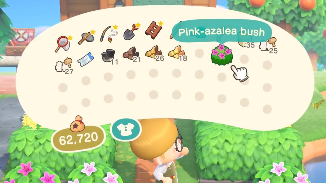 All shrub types and colors Animal Crossing: New Horizons
