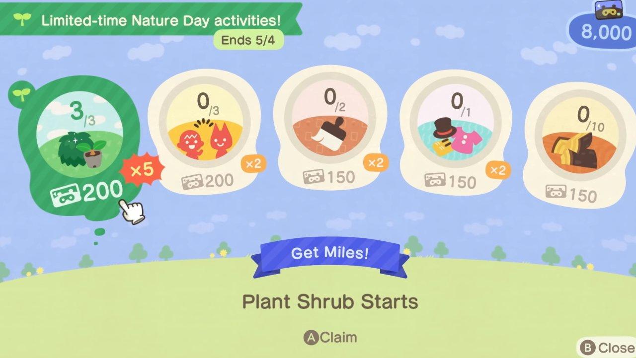 Animal Crossing New Horizons Nature Day