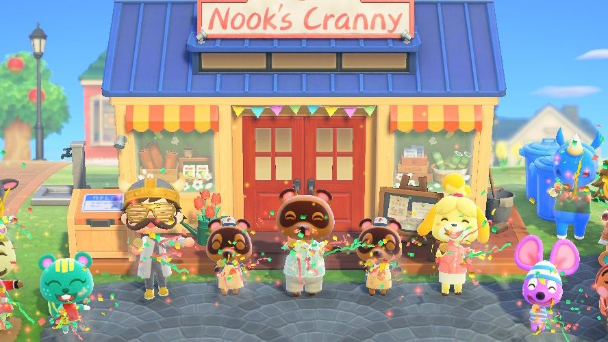Animal Crossing: New Horizons colorful tools and outdoorsy tools are in the upgraded Nook's Cranny.