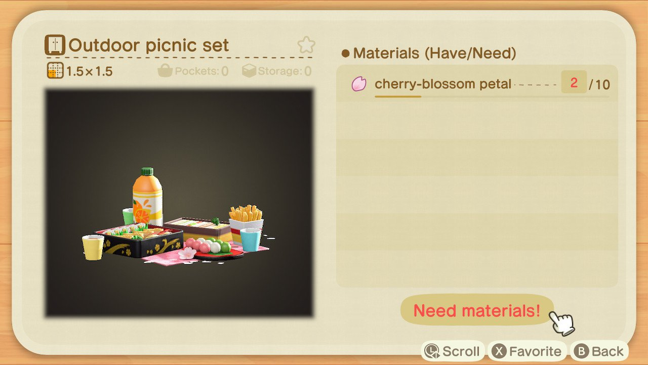 Cherry Blossom petals in Animal Crossing: New Horizons