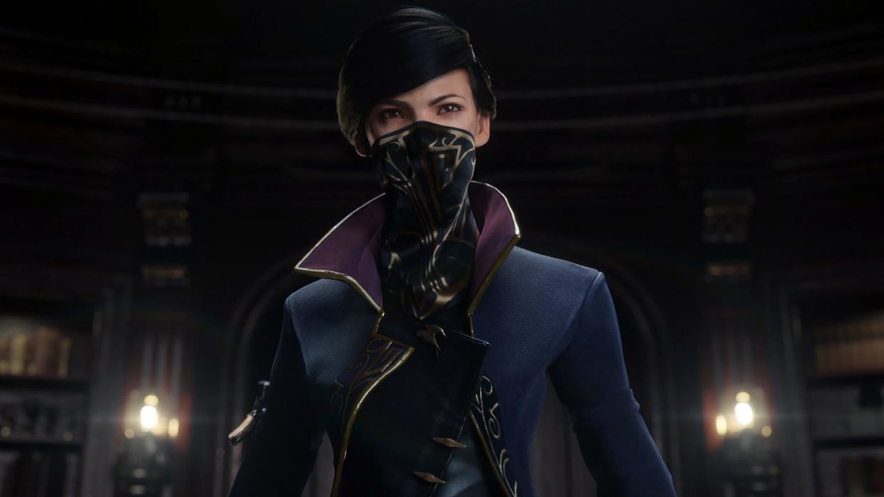 If you want to go the full 'neck gaiter' route you can always take inspiration from characters like Dishonored 2's Emily Kaldwin.