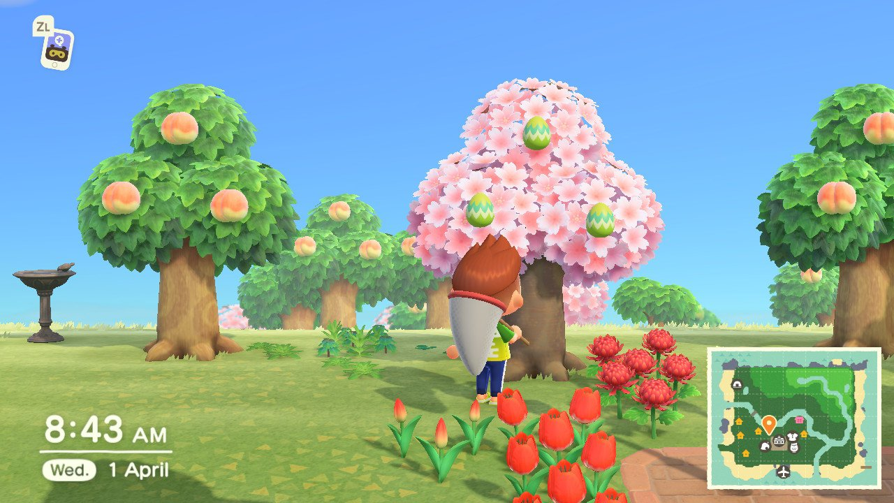 How to get leaf eggs animal crossing: new horizons Bunny day