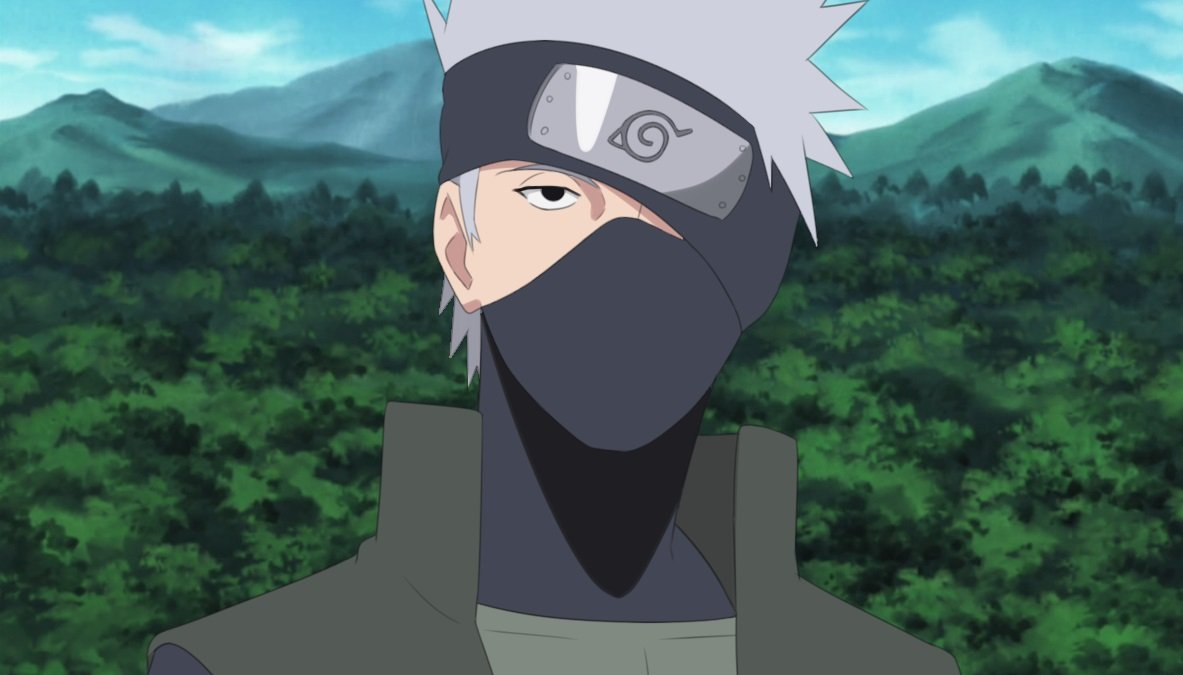 If you have a plain black face mask and want to work on a full cosplay outfit, why not go with Kakashi from Naruto?