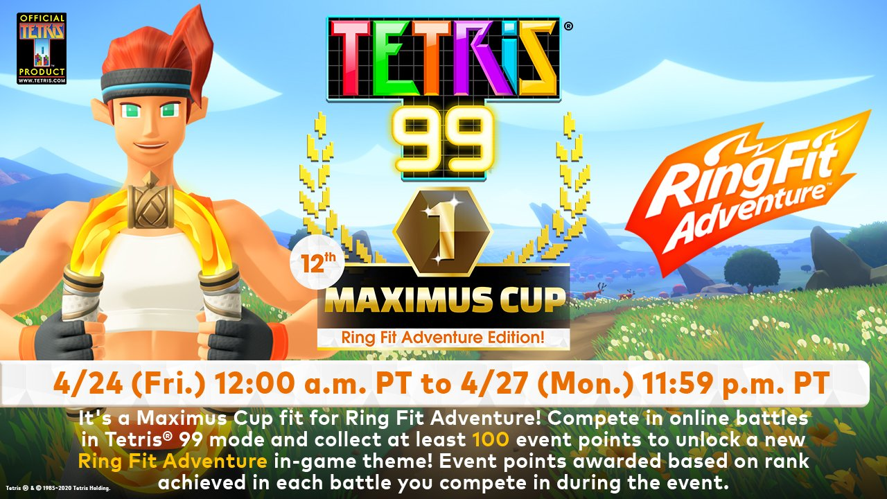 Tetris 99 gets Ring Fit theme Maximus Cup