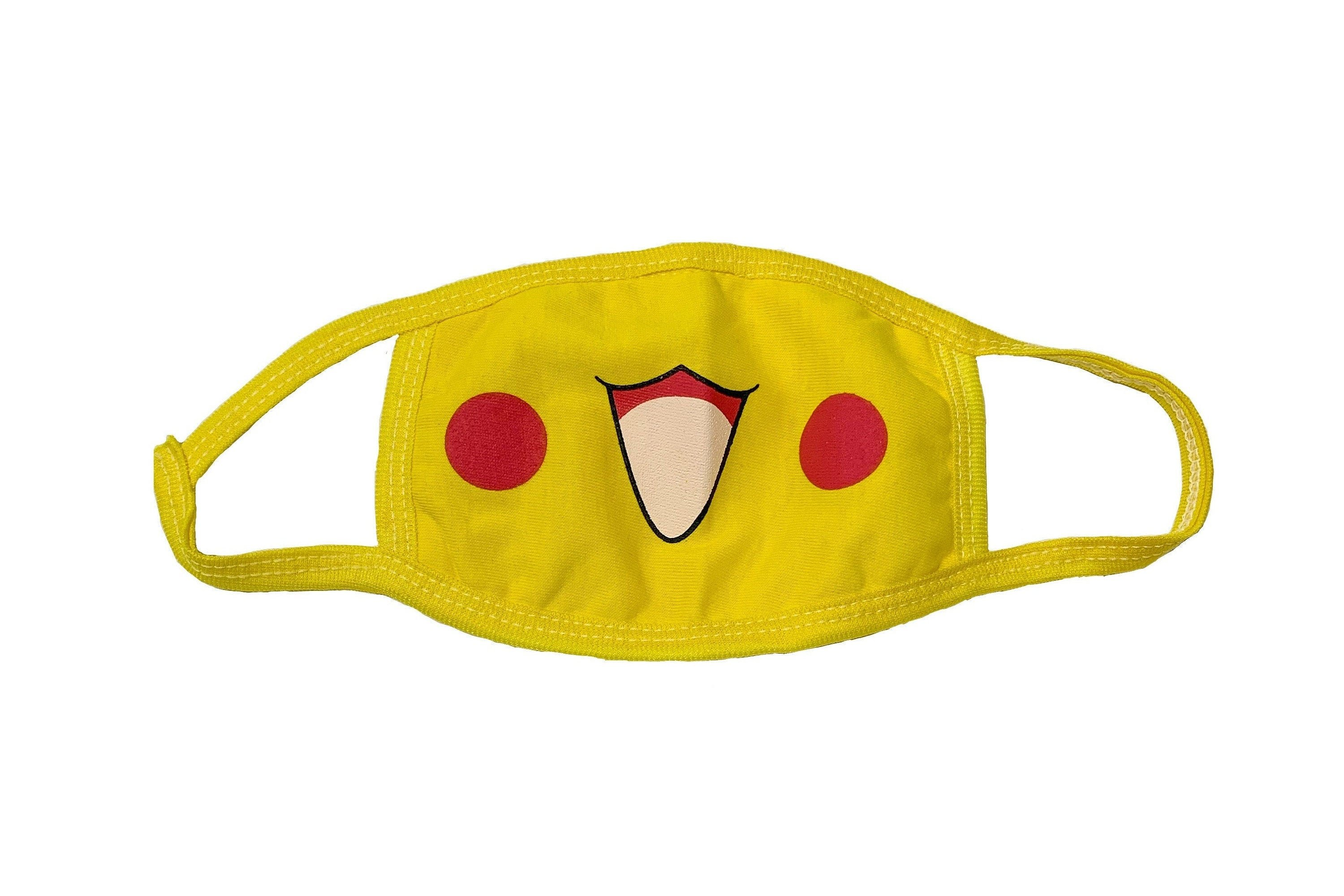 You can take a yellow face mask and add a little Pikachu flair to it!