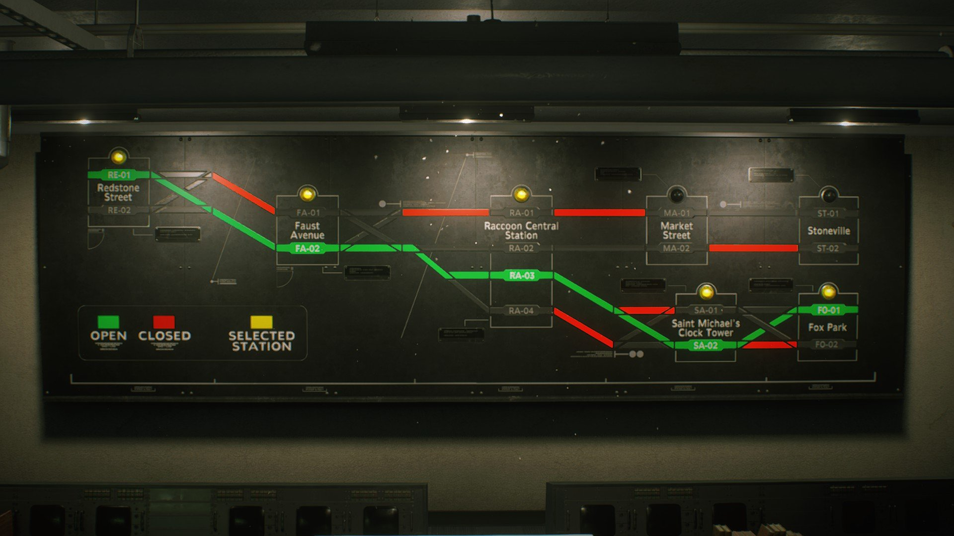 Resident Evil 3 subway train puzzle solution