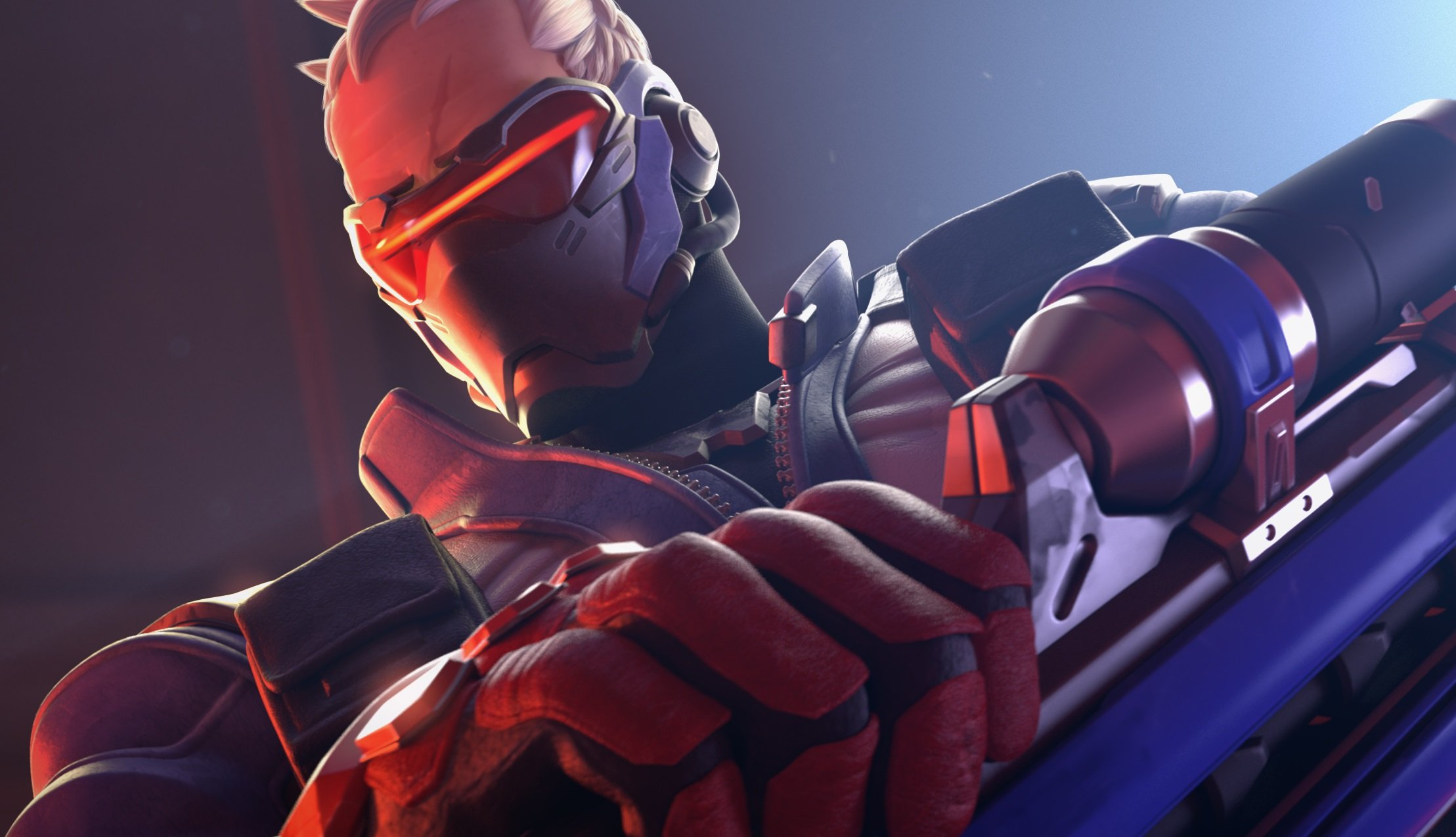Soldier 76 from Overwatch has a cool, futuristic face mask that'd be fun to replicate.