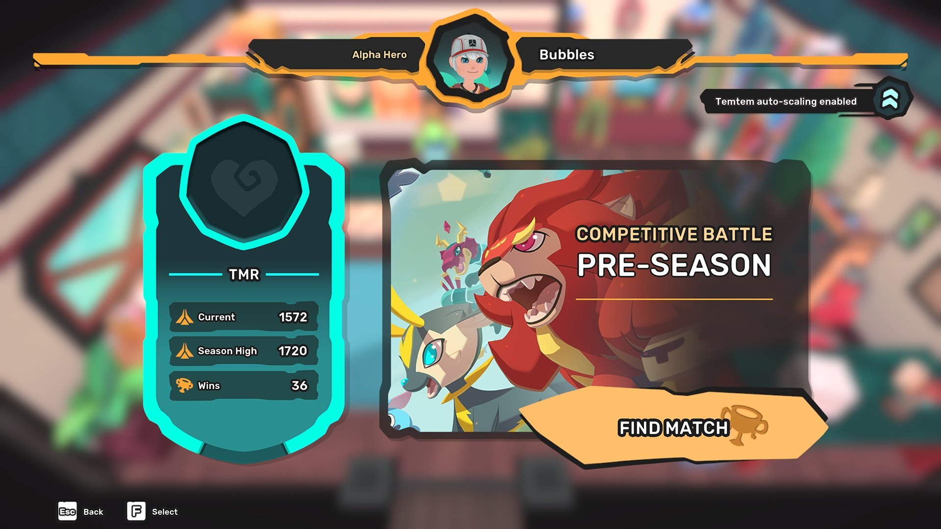 Update adds ranked matchmaking to Temtem