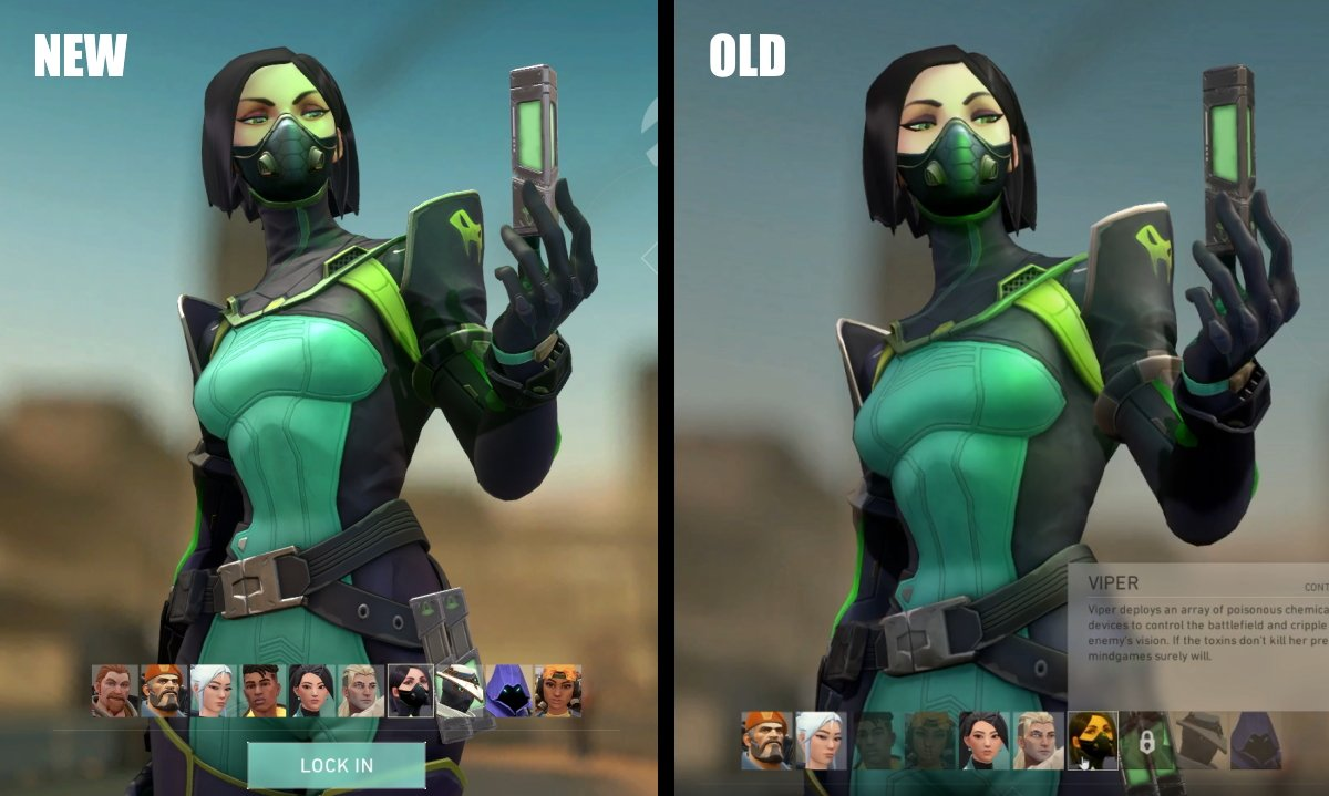 Viper character model update valorant