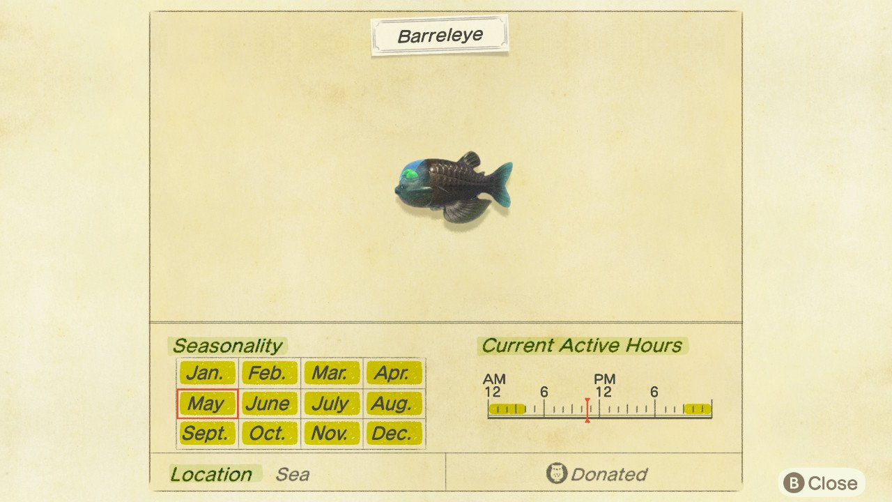 How to catch Barreleye in Animal Crossing: New Horizons