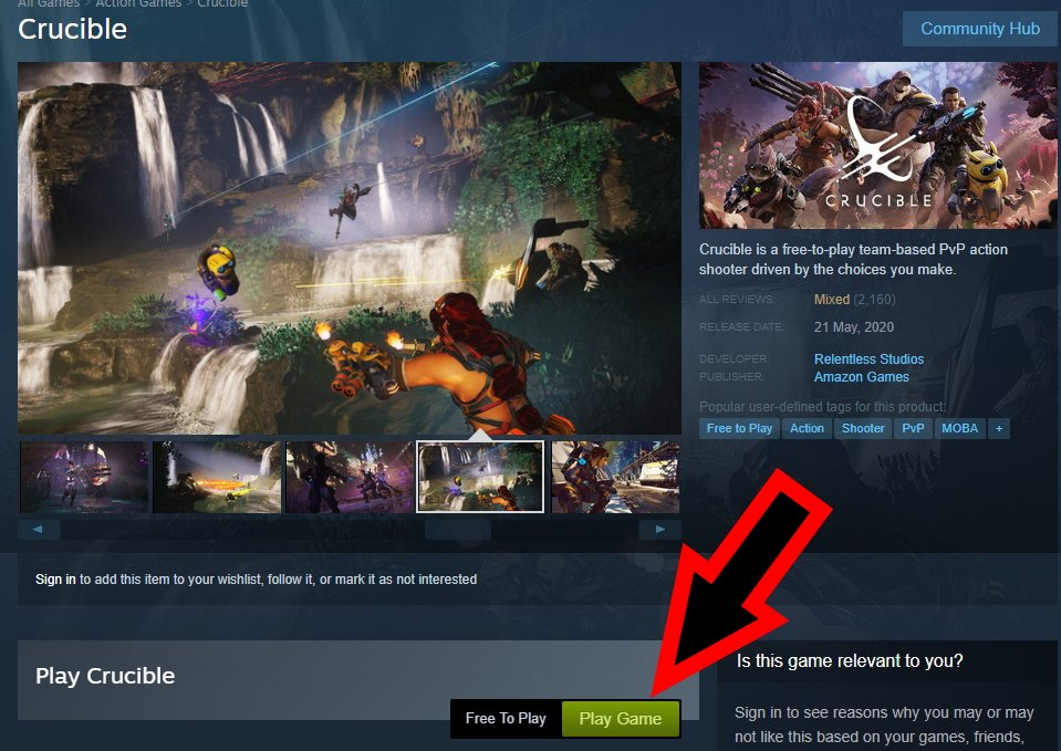 How to download Crucible amazon shooter
