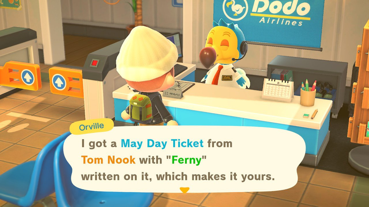 May Day Ticket Animal Crossing New Horizons