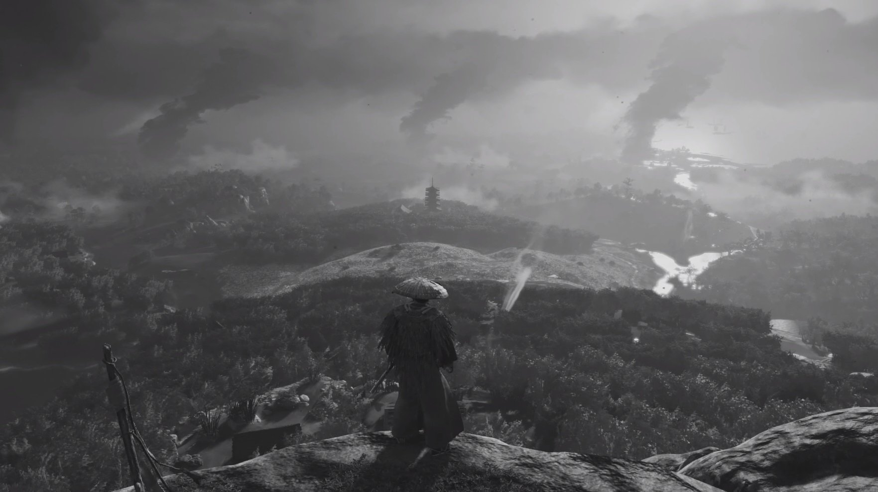 You can play Ghost of Tsushima in black and white
