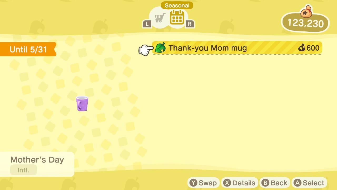 Where to buy seasonal items in Animal Crossing: New Horizons