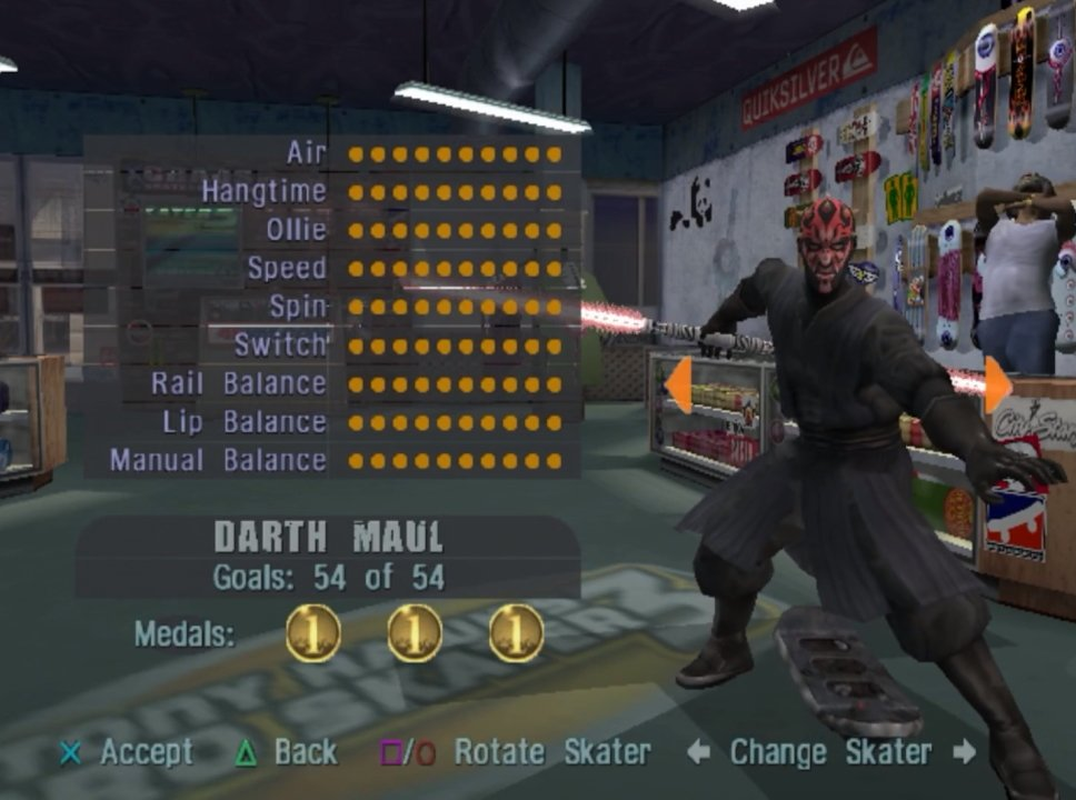 Secret Characters we want in Tony Hawk's Pro Skater 1+2 Darth Maul