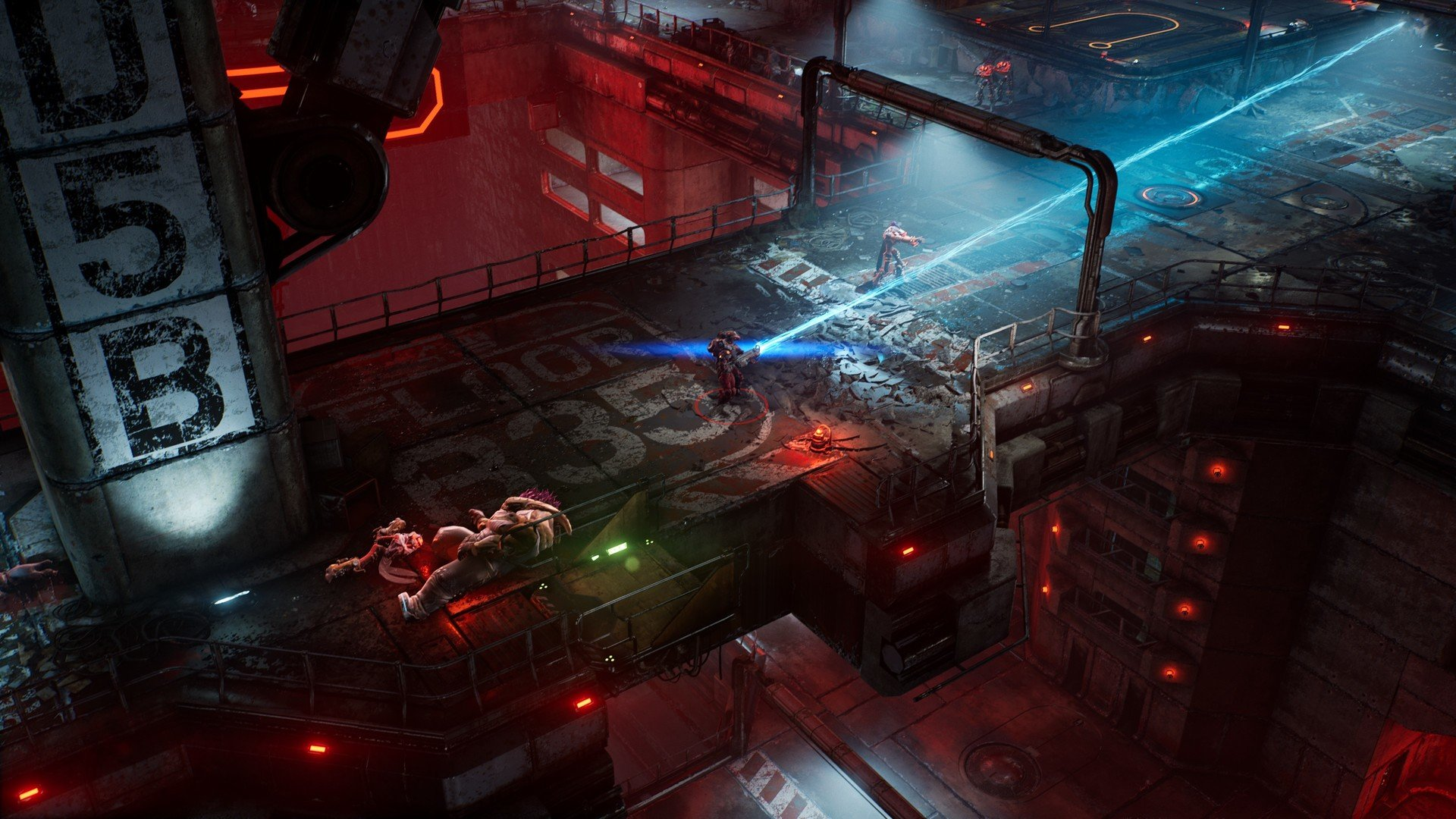 The Ascent features top-down combat and supports both local and online co-op.