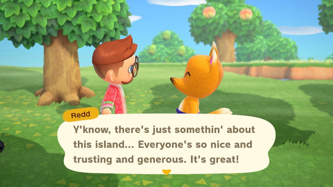 When does redd arrive and leave animal crossing new horizons