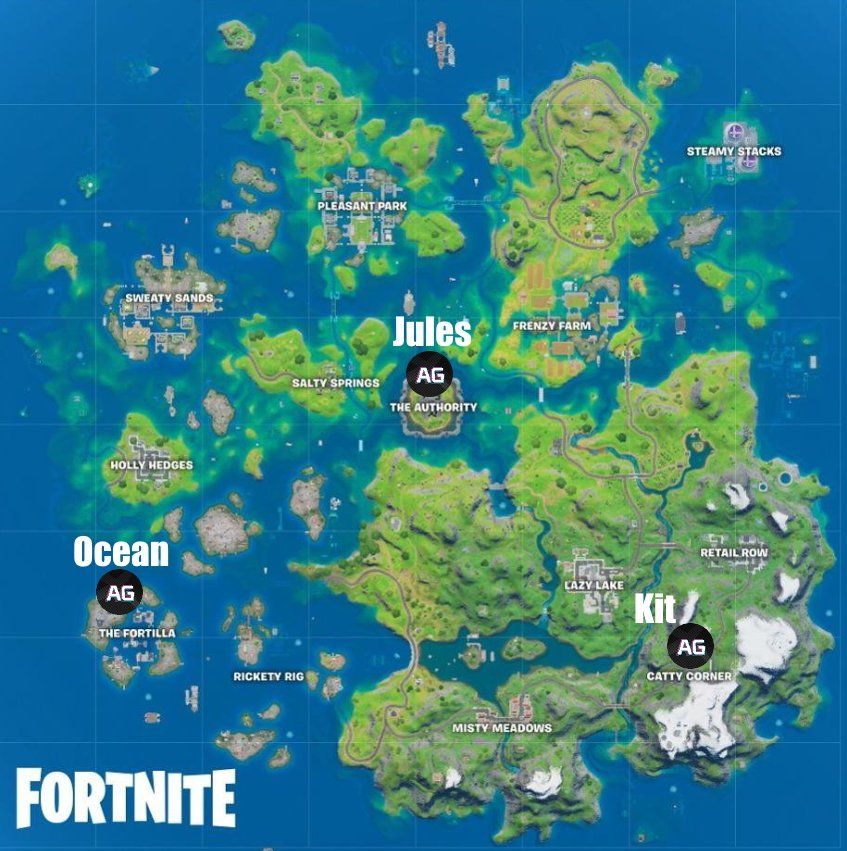 All boss locations in Fortnite Season 3 Chapter 2
