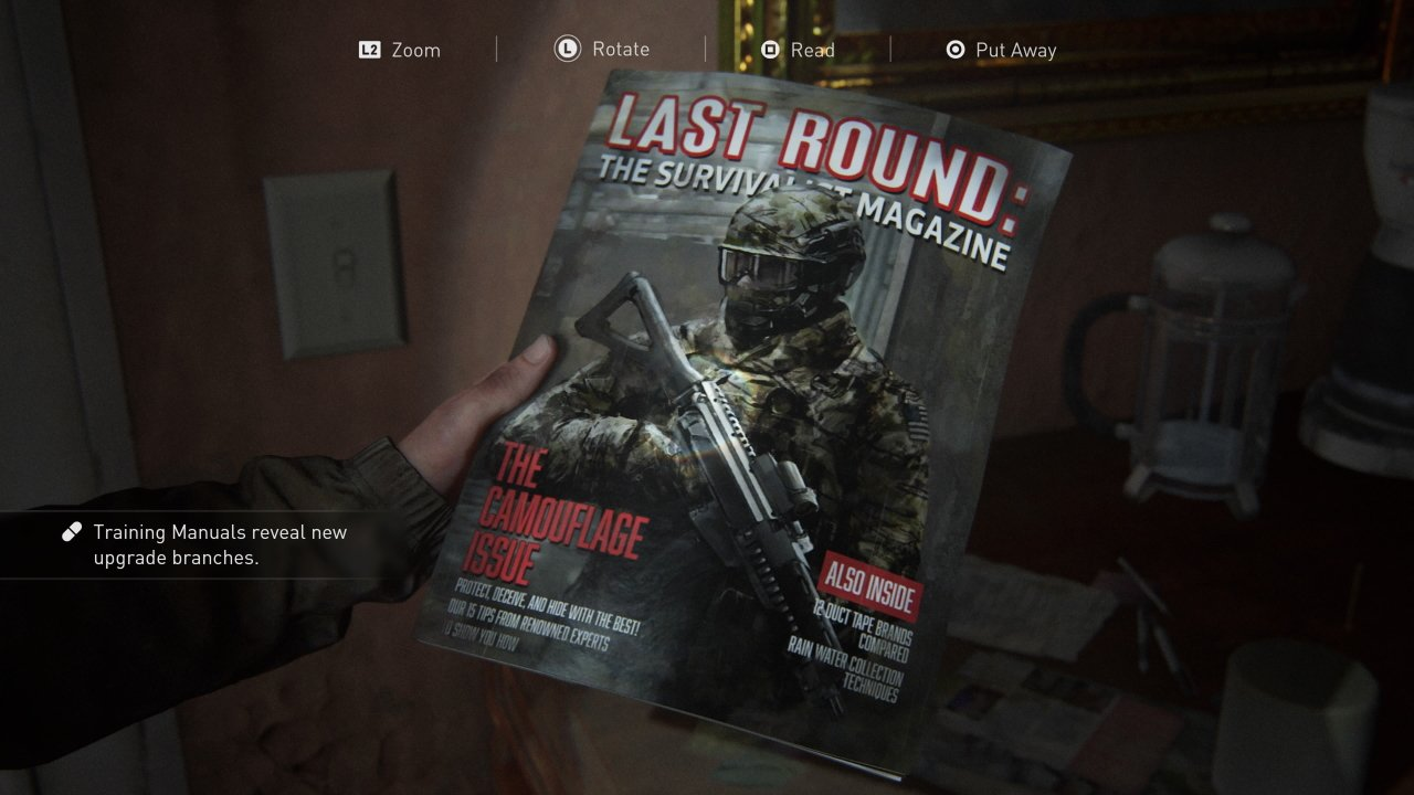All training manuals in the last of us part 2