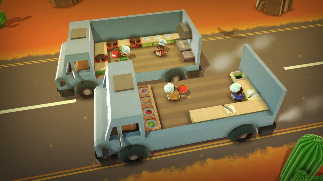 Overcooked supports couch co-op of up to four players.